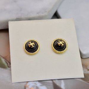 Tory Burch Simple Multicolor Pearl Earrings